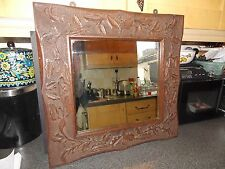 VintageMirror solid oakheavily carvedframe 1inch x 4 inch overall size 58x58