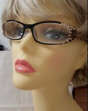 Ladies Swarovski reading glasses by The Crystal Wardrobe -Leopard with case 2.50