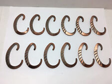 Copper Toned Metal C Type Shower Curtain Rings Holder Set Of 12