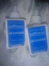 BATH & BODY WORKS BLUE OCEANSIDE WALLFLOWERS HOME FRAGRANCE REFILLS LOT OF 2