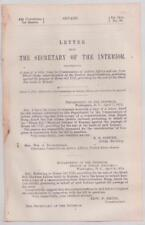 Letter From Secretary of the Interior 1888 Black Bob Indian Lands in Kansas Sale
