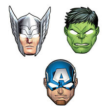 8 Marvel Epic Avengers Superhero Childrens Birthday Paper Party Favor Masks