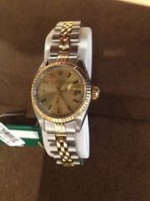Rolex 26mm Watch Datejust Gold Steel Champagne Dial