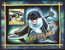 GUINEE 2016 LES ORQUES WHALES BALEINES SEA ANIMALS FISH PESCA POISSON STAMPS MNH