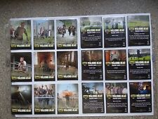 The Walking Dead season 3 part 1 full 9 card  prison chase   set