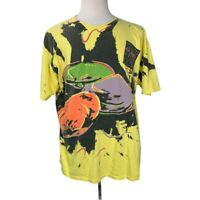 Vintage 1995 Maine Clam Festival XL T-Shirt Yellow Single Stich All Over Print