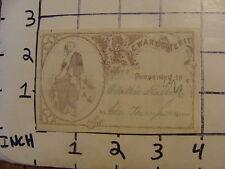 Original Vintage 1800's Reward of Merit Card: lady w sword