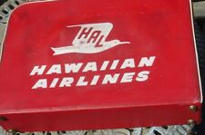 Vintage Retro Small Red Airplane Travel Suitcase HAL Hawaiian Airlines