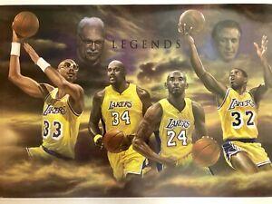 Kobe Bryant  & Lakers Legends Poster  24 X 36