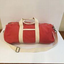 J Crew Duffel Bag Canvas Shoulder Travel Weekend Adjustable Strap