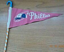 1960's Philadelphia PHILLIES Cloth Pencil PENNANT -Original- Connie Mack Stadium