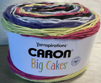 NEW! Caron BIG  Cakes Yarn, Citron Fizz, 10.5oz 603 Yards, #4 Weight