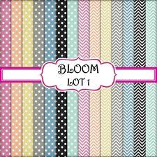 BLOOM - LOT 1 SCRAPBOOK PAPER - 14 x A4 pages