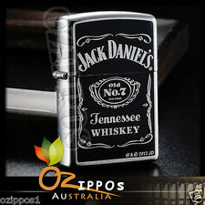 Zippo Lighter Jack Daniels Old No. 7 Street Chrome 24779 --- Free Shipping