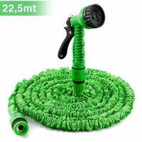 Tubo da giardino estensibile 7.5-22.5m con pistola 7 funzioni Kinzo Garden