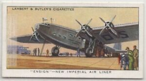 Imperial Airways Armstrong Whitworth Ensign Airliner Plane 1930s Trade Ad Card