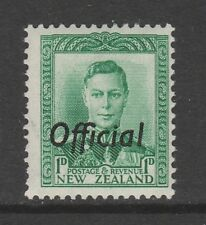 NEW ZEALAND 1938 1d GREEN SG O137 MINT.