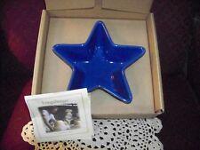 1 CORNFLOWER Blue Patriotic Medium STAR Dish/Serving Bowl Longaberger~NEW IN BOX