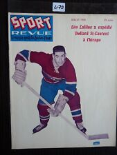 HOCKEY SPORT REVUE 1958  COVER DOLLAR ST LAURENT MONTREAL CANADIEN   L72