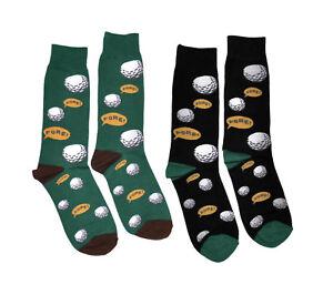 2 Pairs Men's Novelty Socks - Sport - Baseball Basketball Golf Bicycle Bowling