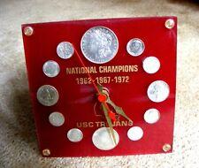 USC Trojans Vintage Championship Coin Clock