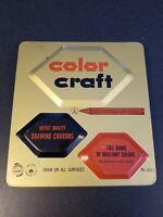 vintage Color Craft Advance Crayon & Color Corp. tin with crayons No. 143-1
