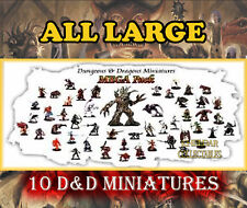 10 LARGE Miniatures PACK LOT - Dungeons & Dragons / Pathfinder, D&D Figures, RPG