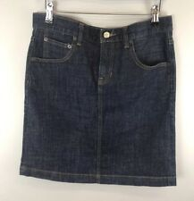 Gap Womens Blue Denim Skirt With Pockets Size 10 Regular W32 VGC Fast Shipping