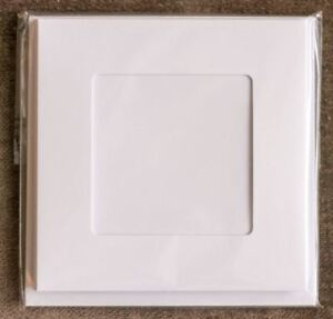 Square aperture square cards - White (Pack of 5)