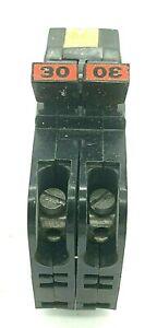 FPE NC230 30 Amp 2 Pole 120/240V Federal Pacific Stab-Lok Thin Plug In Breaker