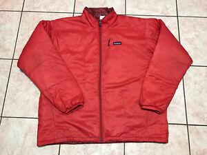 Patagonia Puffer Jacket Full Zip Red Lightweight Size XL Mens