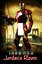 PERSONALIZED IRONMAN LIGHT SWITCH PLATE COVER IRON MAN