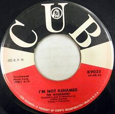 THE WANDERERS 45 I'm Not Ashamed CUB Doo Wop VG++ Original Press BB1259