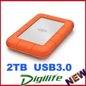 LaCie 2TB Rugged Mini Portable Mobile Drive USB 3.0 for PC & Mac LAC9000298