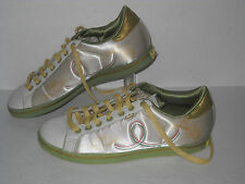 Adidas Rod Laver Milana Casual Sneakers #562425 Pearly Bone/Gold Womens US 7