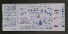 1959 ALL STAR GAME TICKET STUB PITTSBURGH PIRATES NM CONDITION