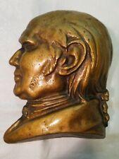 Cast Iron George Washington Profile Wall Hanging Gold Finish