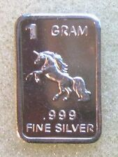 BEVS' silver drawer: one Gram SOLID SILVER * PEGASUS *.999 pure silver BAR