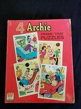 ARCHIE Comics 4 Frame-tray puzzles 1972 Whitman Jughead Veronica Riverdale