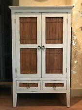 Pier Lombok Wood/Cane TV/Linen Cabinet Drawers Dresser Cupboard Shabby Chic