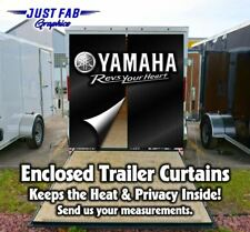 Enclosed Trailer Rear Door Yamaha Kawasaki CanAm Suzuki, KTM, Husqvarna Curtains