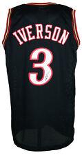 Allen Iverson Signed Custom Black Pro-Style Basketball Jersey Jsa Itp