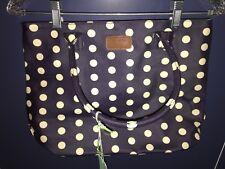 RED CUCKOO blue white polka dot PURSE handbag NEW NWT sz M London whimsical