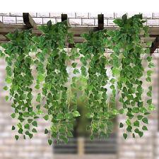 2p. 1,7 M Fausse Décorative Plante En Plastique Artificiel Scindapsus