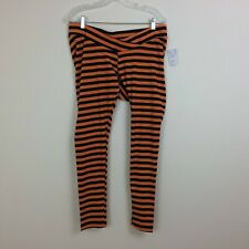 Motherhood Size Large Orange & Black Halloween Stretch Leggings