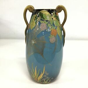 Carlton Ware 'Bleu Royale' Vase with Gold Accents #732