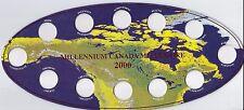 Uni-safe Canada 2000 Millennium 25¢ Coin Board $2.99 (M00MLO)