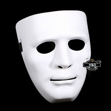 White Adult Men Halloween Face Mask Drama Costume Hip-hop Ghost Dance Step Party