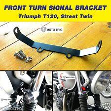 MOTO TRIO FRONT TURN SIGNAL LIGHT BRACKET (Fit: Triumph T120, Street Twin)