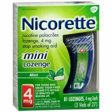 Nicorette Stop Smoking Aid Mini 4 mg Mint 81 LOZENGES EXP 2021 Damaged Box